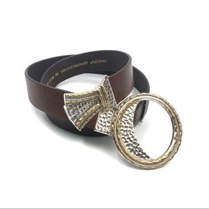 Chico's Gold / Silver Tone Hook Belt